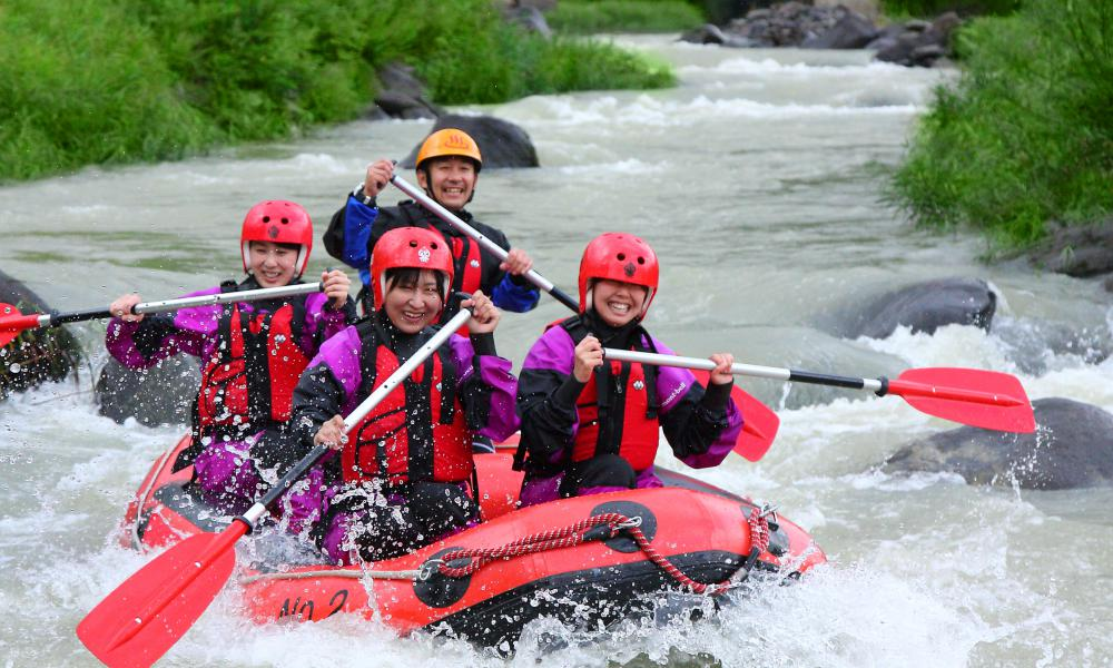 Rafting in the Meya Ravine