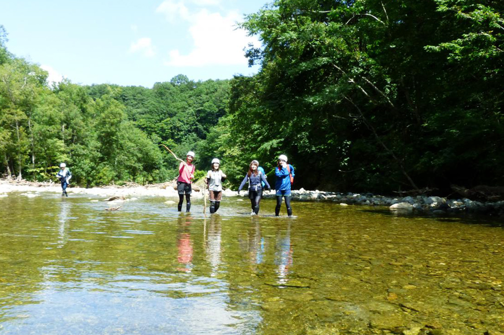 Enjoy strolling through the Shirakami Mountain forests, and swimming in the crystal clear waters of its rivers