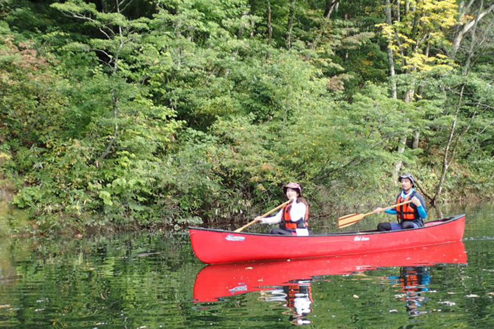 Come paddle a Canadian Canoe up the Shirakami Sanchi Great River and the Anmon River
