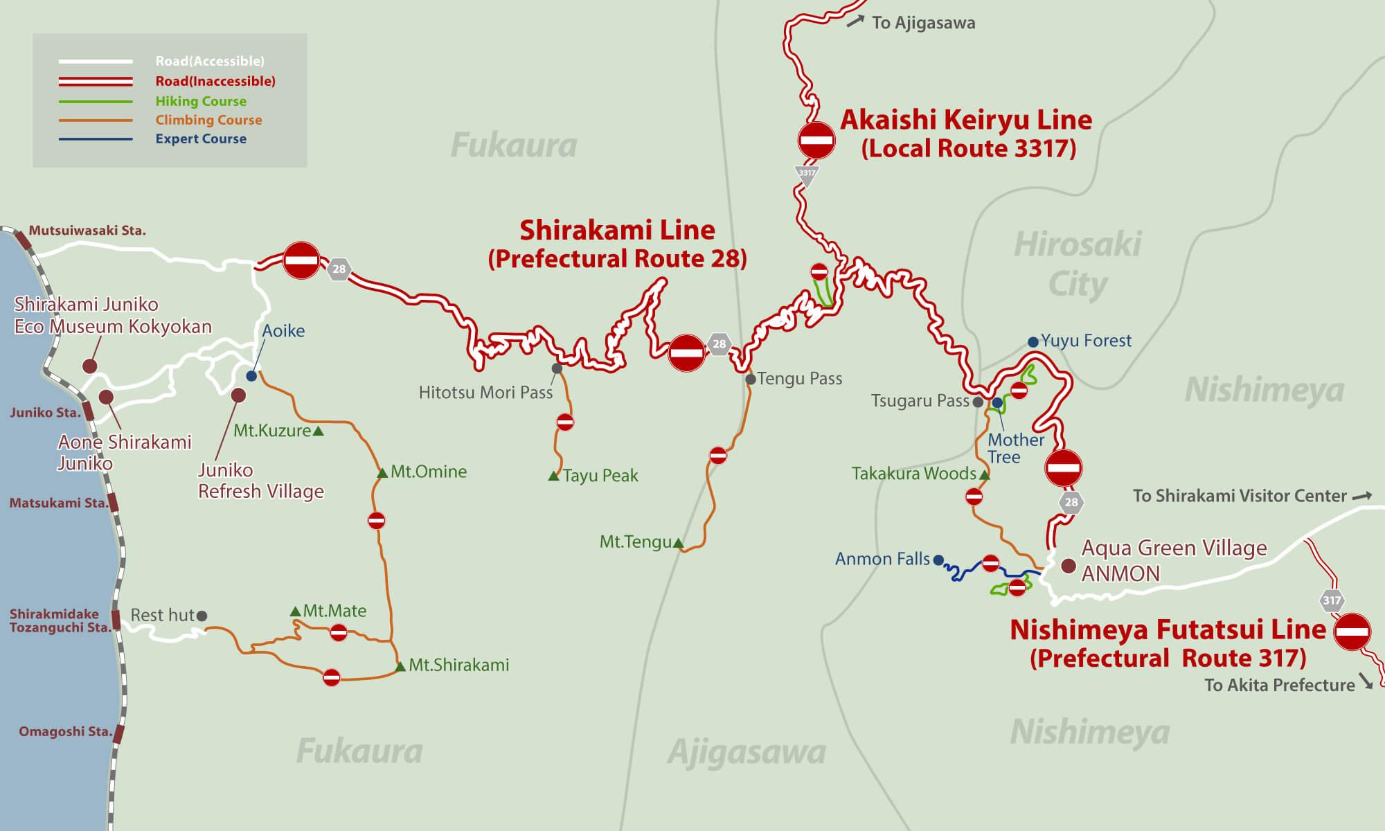 Road Information Shirakami Sanchi